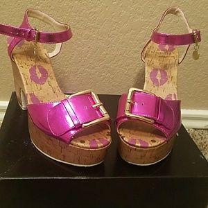 Juicy couture Hot pink heels